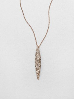 Alexis Bittar - Sparkle Spear Necklace/Rose Gold