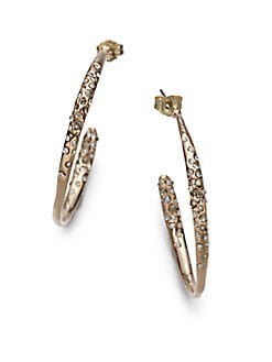 Alexis Bittar - Sparkle Hoop Earrings/1.25