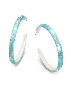 Alexis Bittar - Lucite Hoop Earrings/Blue