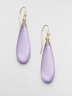 Alexis Bittar - Smooth Raindrop Earrings/Lavender