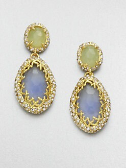 Alexis Bittar - Double Gemstone Drop Earrings