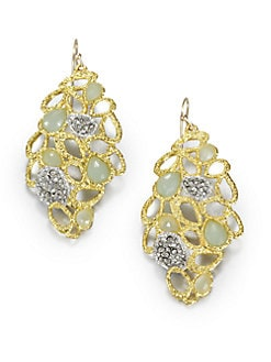 Alexis Bittar - Openwork Chalcedony Earrings