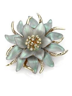 Alexis Bittar - Vert D'Eau Lucite & Crystal Large Flower Pin