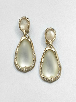 Alexis Bittar - Lucite, Crystal, Mother-of-Pearl & Citrine Drop Earrings