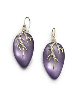 Alexis Bittar - Vine-Motif Lucite and Crystal Earrings