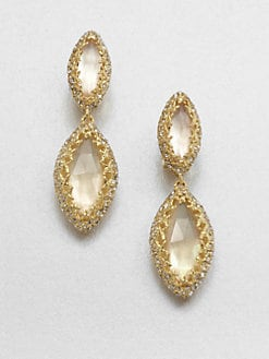 Alexis Bittar - Mother-Of-Pearl Doublet Clip-On Drop Earrings