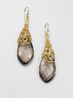 Alexis Bittar - Quartz Lace Cap Drop Earrings