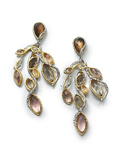 Alexis Bittar - Smokey Quartz and Off-White Quartz Vine Earrings