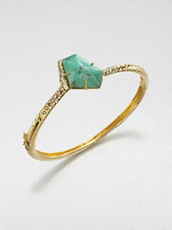 Alexis Bittar - Chrysoprase Bangle Bracelet