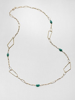 Alexis Bittar - Chrysoprase Geometric Station Necklace