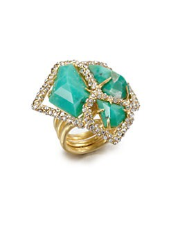 Alexis Bittar - Chrysoprase Cluster Ring