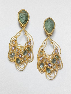 Alexis Bittar - Jeweled Lace Drop Earrings