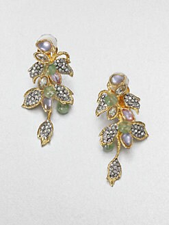 Alexis Bittar - Jeweled Two-Tone Floral Cluster Earrings