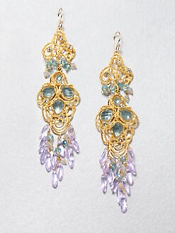 Alexis Bittar - Gemstone Lace Chandelier Earrings