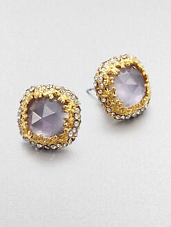 Alexis Bittar - Iolite and Mother-of-Pearl Stud Earrings