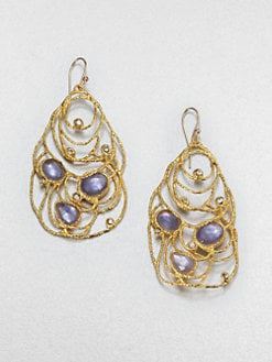 Alexis Bittar - Iolite and Mother-of-Pearl Lace Earrings