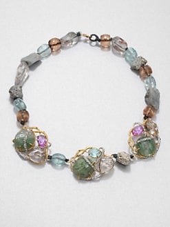 Alexis Bittar - Multi-Stone Beaded Necklace