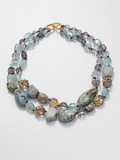 Alexis Bittar - Double-Strand Multi-Stone Necklace