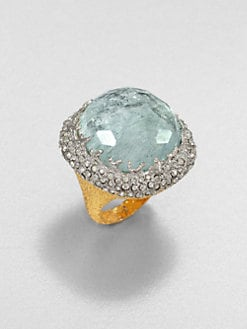 Alexis Bittar - Mauritius Crystal Cushion Ring