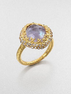 Alexis Bittar - Iolite and Mother-of-Pearl Ring