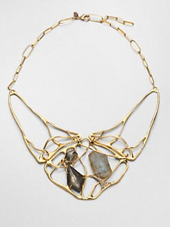 Alexis Bittar - Liquid Labradorite Doublet Interlaced Necklace