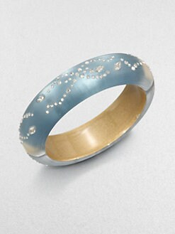 Alexis Bittar - Lucite and Crystal Bangle Bracelet