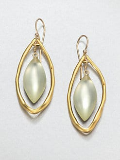 Alexis Bittar - Floating Lucite Leaf Earrings