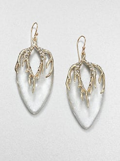 Alexis Bittar - Lucite and Crystal Drop Earrings