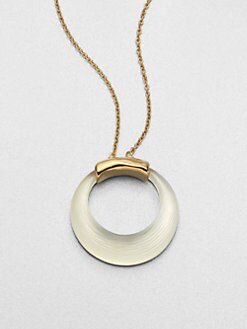 Alexis Bittar - Lucite Circle Pendant Necklace