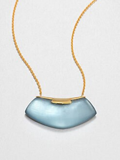 Alexis Bittar - Lucite Shield Necklace