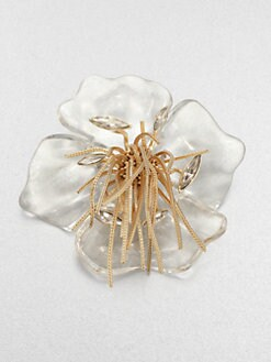 Alexis Bittar - Lucite Pansy Pin