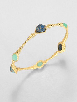 Alexis Bittar - Cordova Chrysocolla & Chalcedony Bangle