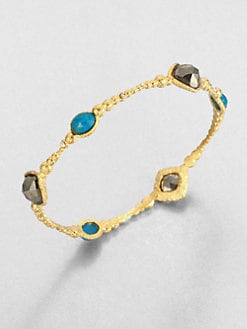 Alexis Bittar - Cordova Chrysocolla & Pyrite Bangle