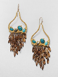 Alexis Bittar - Cordova Draped Multi-Stone Drop Earrings