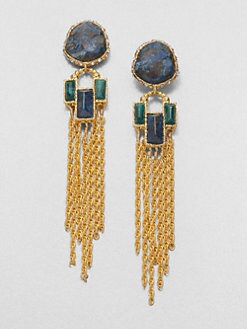 Alexis Bittar - Cordova Chrysocolla Fringe Drop Earrings