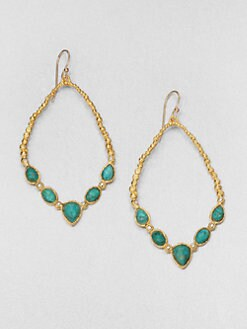 Alexis Bittar - Cordova Chrysocolla Tear Link Earrings