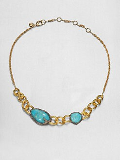 Alexis Bittar - Turquoise Chain Link Necklace