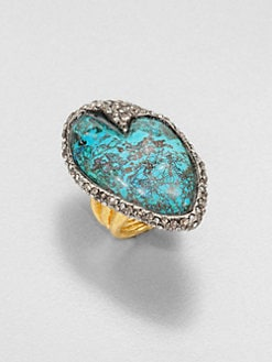 Alexis Bittar - Cordova Chrysocolla & Crystal Ring