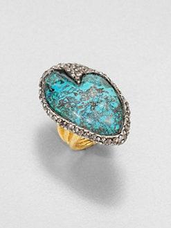 Alexis Bittar - Cordova Chrysocolla & Crystal Ring