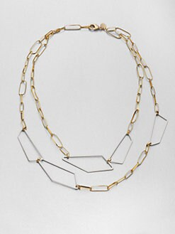 Alexis Bittar - Geometric Link Double-Row Necklace