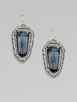 Alexis Bittar - Sparkle-Framed Shield Earrings