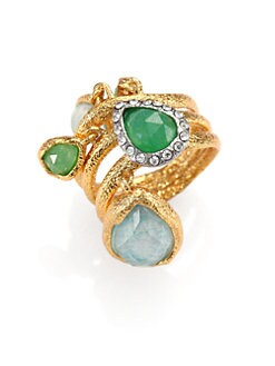 Alexis Bittar - Dangling Charm Multi Stone Ring