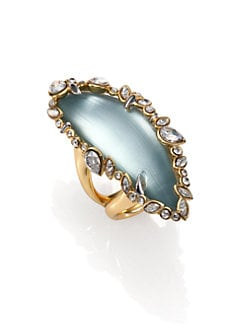 Alexis Bittar - Jagged Edge Swarovski Crystal & Lucite Ring
