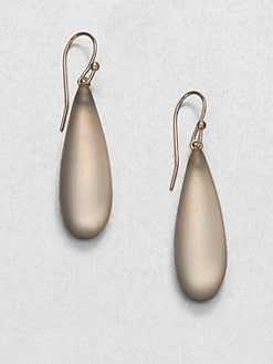 Alexis Bittar - Long Lucite Raindrop Earrings/Grey