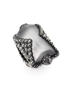 Alexis Bittar - Sante Fe Deco Lucite & Marcasite Ring