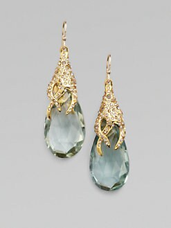Alexis Bittar - Pavé Swarovski Crystal Accented Green Amethyst Earrings