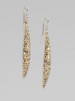 Alexis Bittar - Swarovski Crystal Accented Spear Drop Earrings