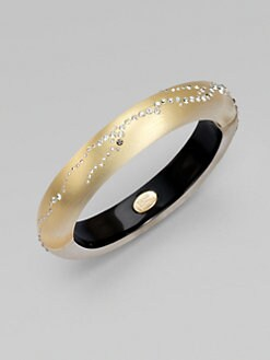 Alexis Bittar - Swarovski Crystal Accented Bangle Bracelet/Gold