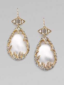 Alexis Bittar - Swarovski Crystal Accented Frame Lucite Drop Earrings