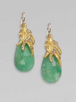 Alexis Bittar - Pavé Swarovski Crystal Accented Chrysoprase Earrings